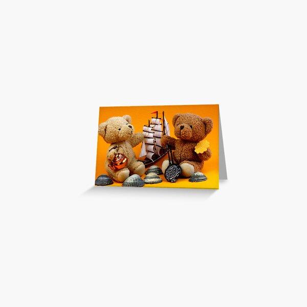 Bären verliebt in Frisian Tee und Waffeln Grußkarte