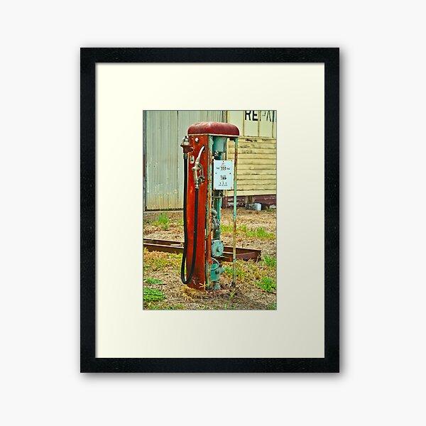 Old Gas Framed Art Print