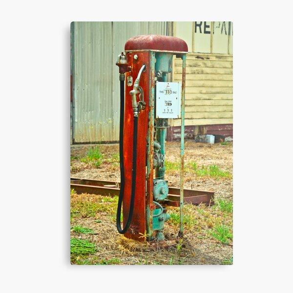 Old Gas Metal Print