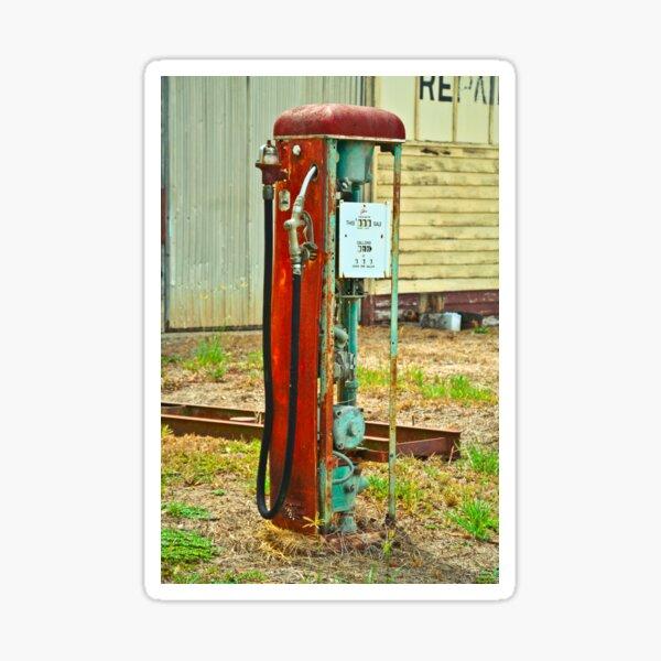 Old Gas Sticker