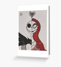 Jack and Sally.  Greeting Card