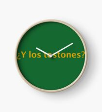 ¿Y los tostones? for plantian lovers Clock