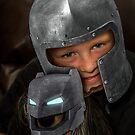 Armor Boy and Bat Dog by Randy Turnbow
