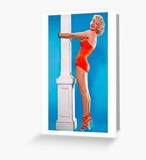 MARILYN MONROE : In A Red Bathing Suit Print Greeting Card