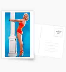 MARILYN MONROE : In A Red Bathing Suit Print Postcards