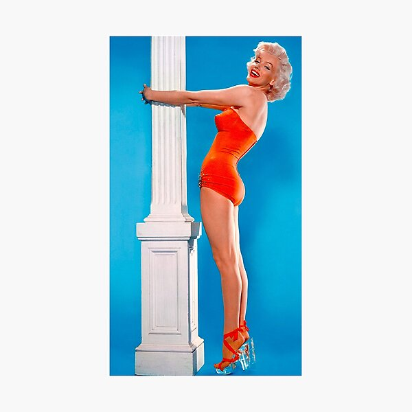 MARILYN MONROE : In A Red Bathing Suit Print Photographic Print