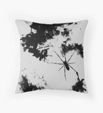 Grunge Spider Throw Pillow