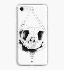 Geometric Turtle Skull - Graphic Pen Drawing iPhone Case/Skin