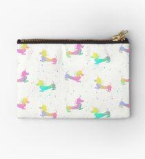 Magical Unicorn Dachshund Silhouette Pattern Studio Pouch