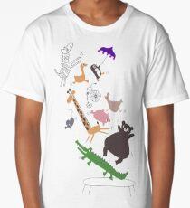 jumping animals Long T-Shirt