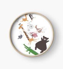 jumping animals Clock