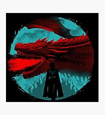 on the darkness side dragon Photographic Print