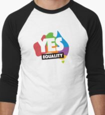 yes vote in marriage equality Men's Baseball ¾ T-Shirt
