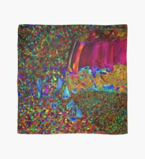 Abstract Wine Glass in Orange Scarf