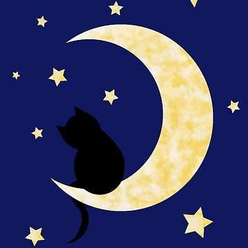 Moon cat by Mackismycat