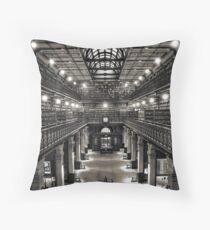 Mortlock Library Throw Pillow