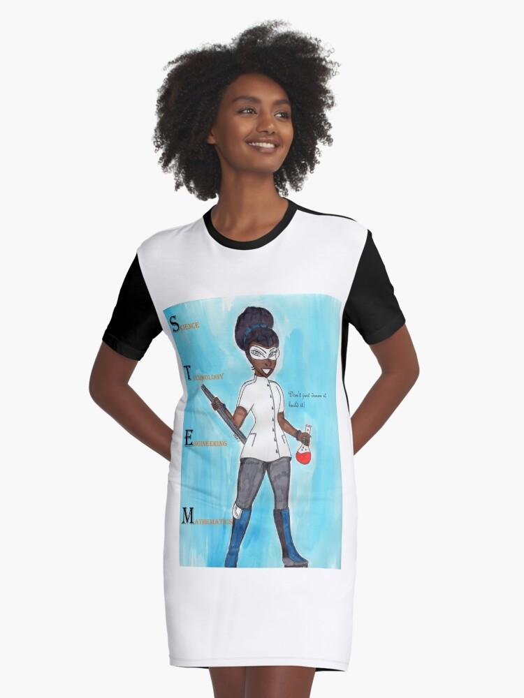 STEM Dont just dream it build it. Graphic T-Shirt Dress Front