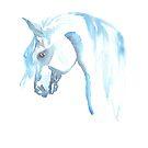 blue horse by RavensLanding