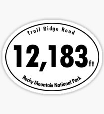 Trail Ridge Road Elevation Rocky Mountain National Park Sticker