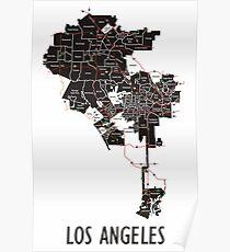 City of Los Angeles Neighborhood Map Poster