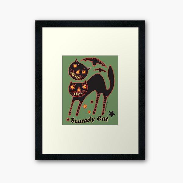 Scaredy Cats Framed Art Print