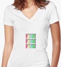 Fun fun fun Women's Fitted V-Neck T-Shirt