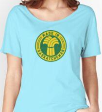 Made in Saskatchewan Logo (Gold & Green) Women's Relaxed Fit T-Shirt