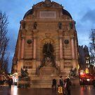 Fontaine Saint-Michel by Elena Skvortsova