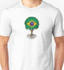 Tree of Life with Brazilian Flag T-Shirt