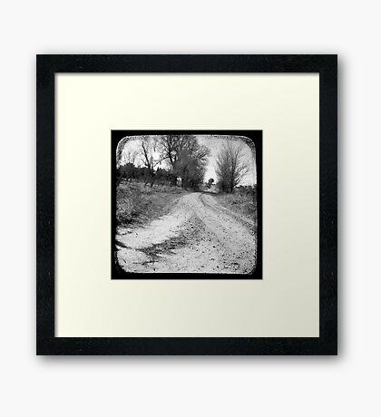 Dirty Back Road Framed Print