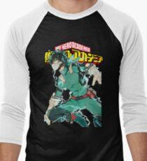 Deku Full Cowl-My hero Academia Men's Baseball ¾ T-Shirt