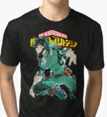Deku Full Cowl-My hero Academia Tri-blend T-Shirt