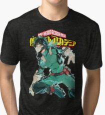 Camiseta de tejido mixto Deku Full Cowl-My hero Academia