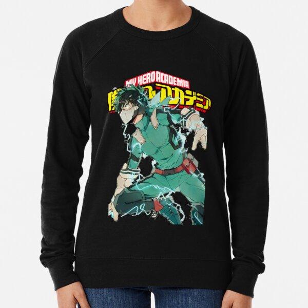 Deku Full Cowl-My hero Academia Lightweight Sweatshirt