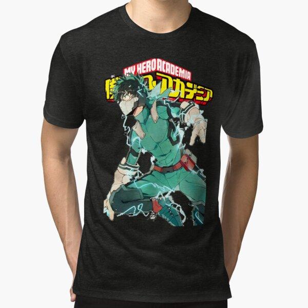 Deku Full Cowl-My hero Academia Tri-blend T-Shirt