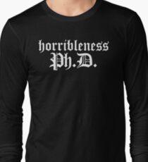 Ph.D In Horribleness Dark Version Long Sleeve T-Shirt