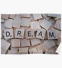 Scrabble Letters: DREAM Poster