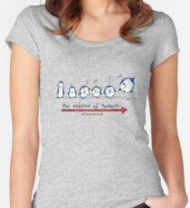 Evolution Of Penguin - PenguiNation Women's Fitted Scoop T-Shirt