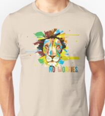 Colorful Lion Head - No Worries T-Shirt
