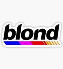 Underlined blond black Sticker