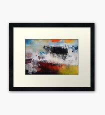 Large Abstract Art  Framed Print