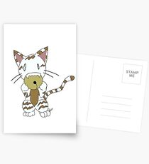 Omnom Kitty with Bell (white) Postcards