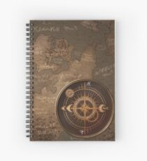 Traveling Spell - Painted Compass Spiral Notebook