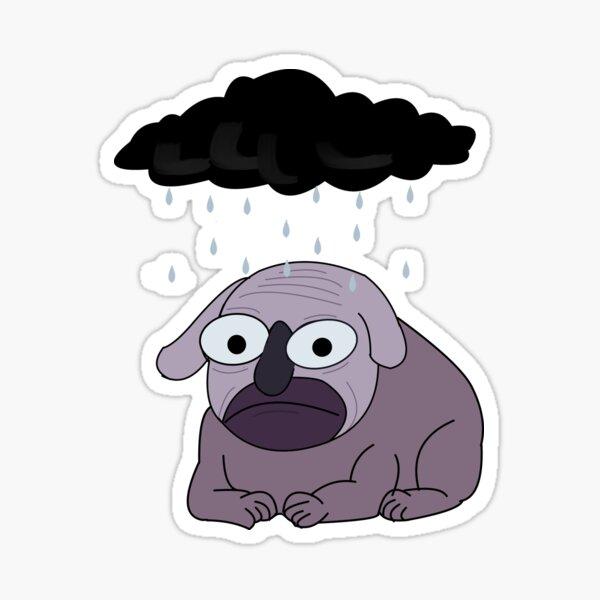 Depressiver Hund Sticker