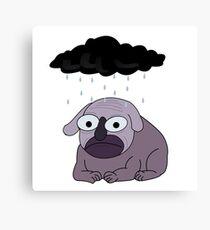Depressed Dog Canvas Print