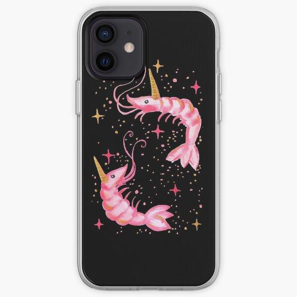 Uni-Prawn In Space - Black iPhone Soft Case
