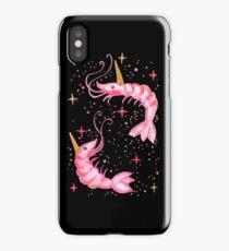 Uni-Prawn In Space - Black iPhone Case/Skin