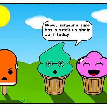 Mean Ice Cream Cartoon by kayve