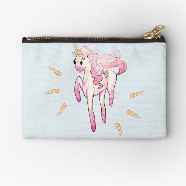 Super Cool Pink Unicorn Zipper Pouch