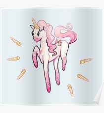 Super Cool Pink Unicorn Poster